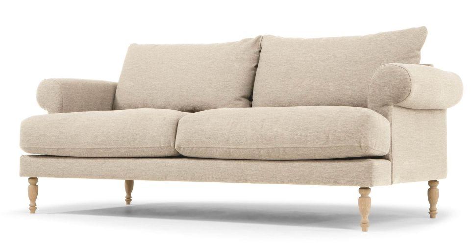 Cunningham 2 Seater Sofa In Byron Beige Made Com 2 Seater Sofa