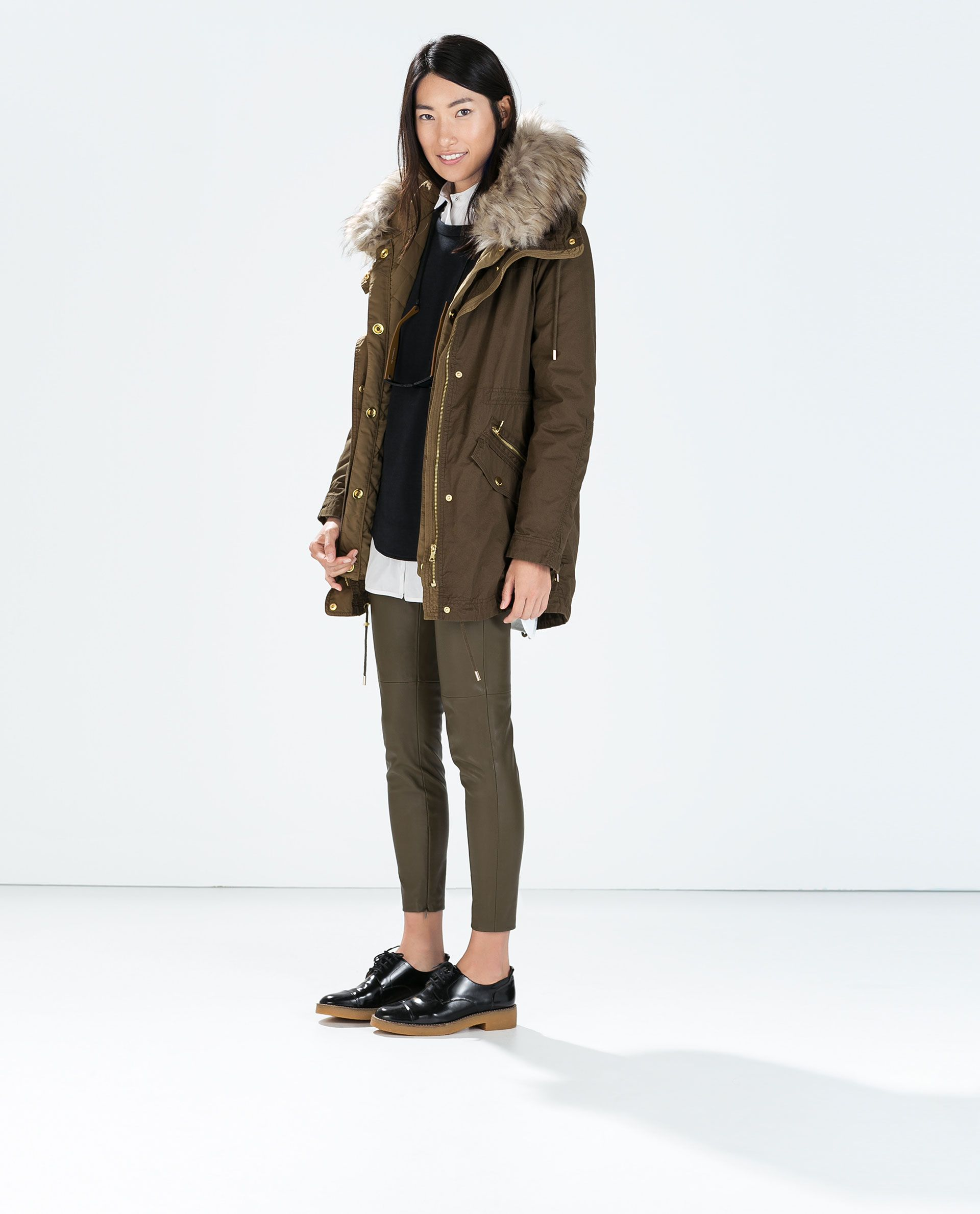 e y t l From Detachable With Quilted Lining Zara S Parka THvxwq4g