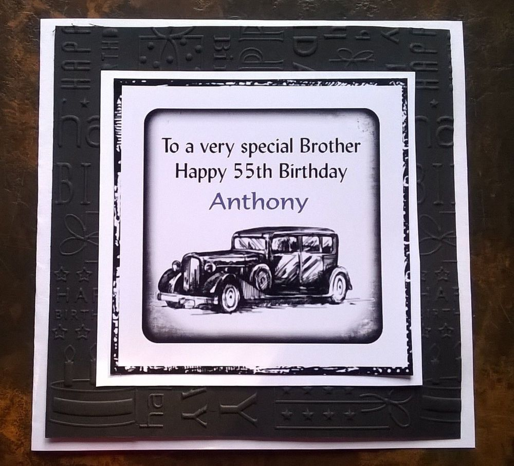 Handmade Personalised Birthday Card Vintage Car Son Father Partner ...