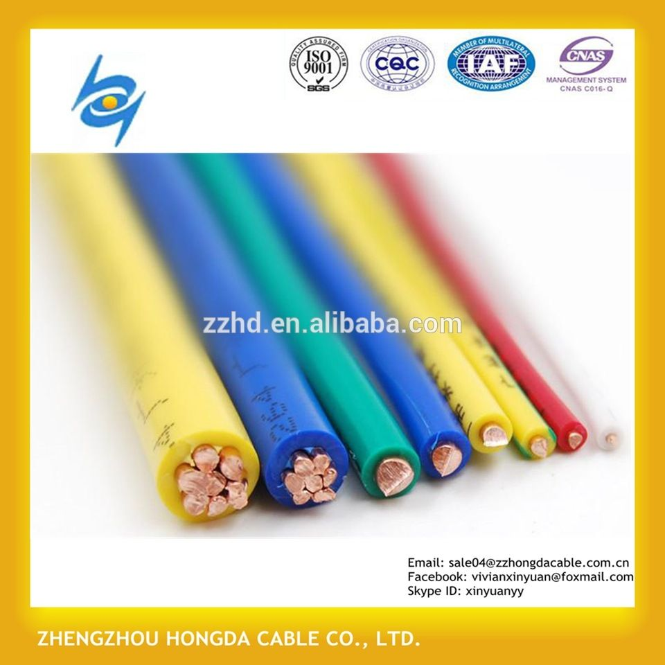 China supplier house wiring electric wire cable 1.5 2.5 4 6 10 16 ...