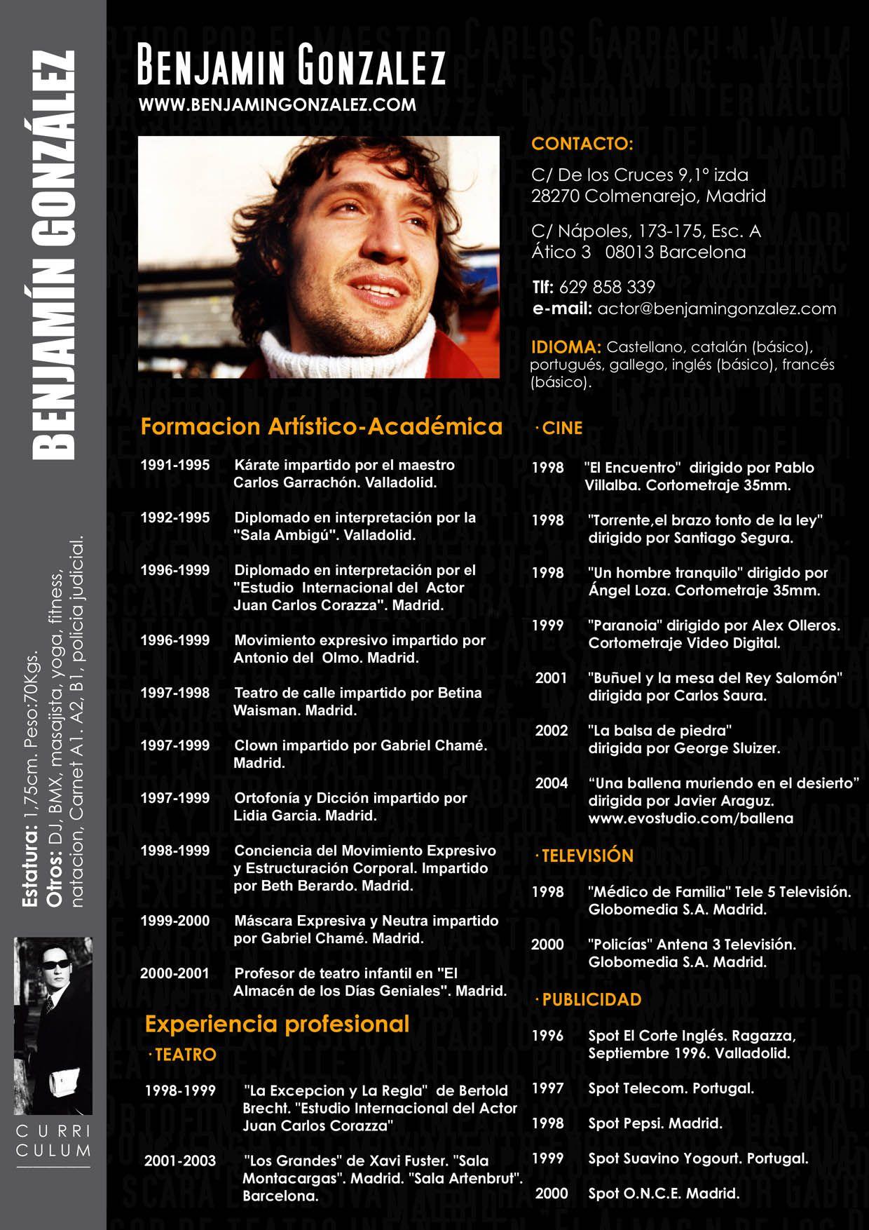 currículum-artístico-cine.jpg (1240×1754) | CV | Pinterest