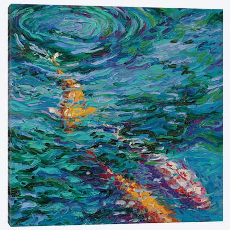 Koi Pool Canvas Artwork By Iris Scott Icanvas Canvas Artwork Canvas Giclee Painting Prints