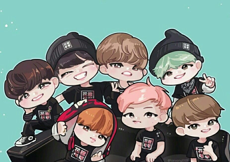 BTS there so cute Chibi, Bts anime