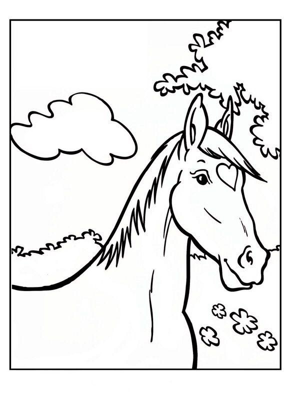 Kleurplaten Love Paarden.Kleurplaat Paard Amika Kleurplaten Horse Coloring Pages