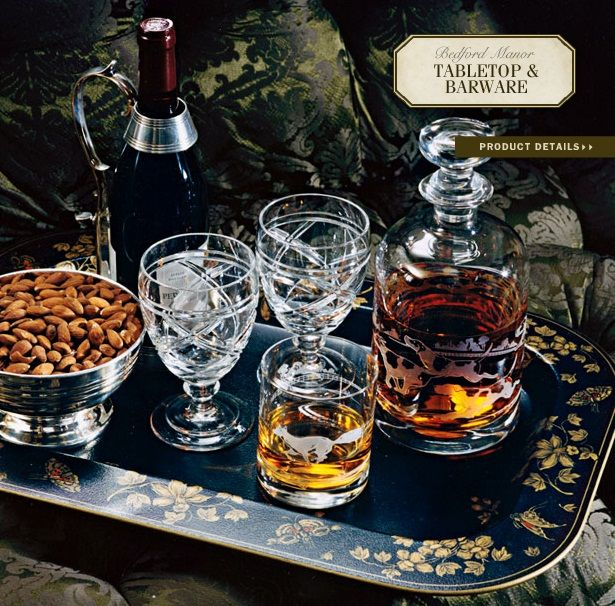 Ralph Lauren Home #Bedford_Manor Collection 13   Tabletop U0026 Barware,  Glassware Over Laquer Tray