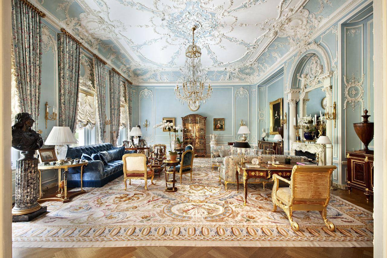 Grand Italian Renaissance Mansion Living Room Mansions