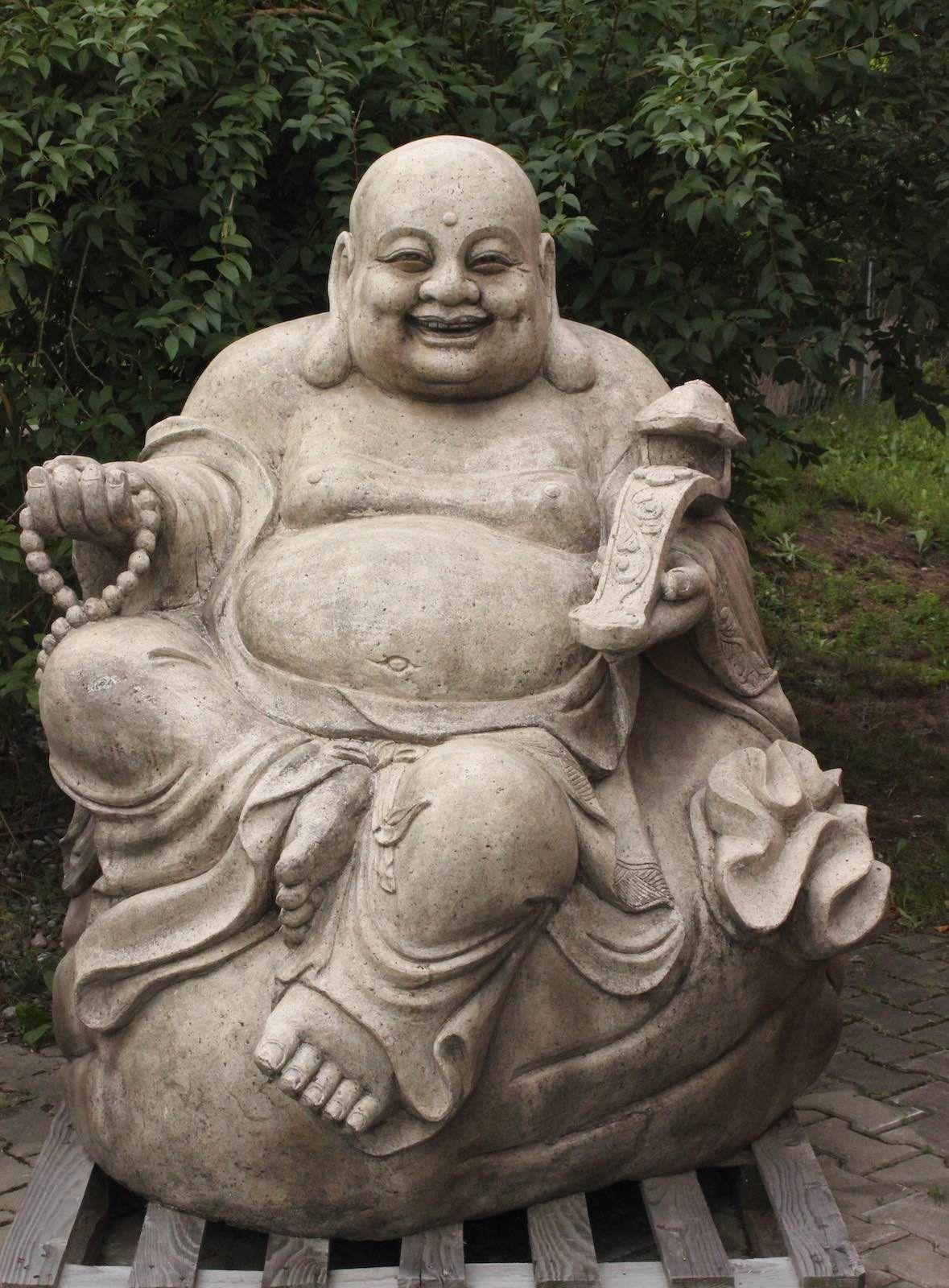 Hierbei Handelt Es Sich Um Eine Sehr Grosse Hotai Buddha Statue Aus Granit Stein Der Edle Buddah Ist Ein Echter Blickfang Buddha Buddha Kunst Lachender Buddha