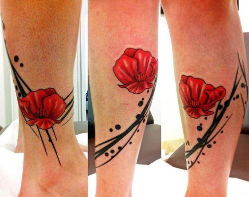 coquelicots sur le bas de la jambe tatouage pinterest les jambes les bas et coquelicots. Black Bedroom Furniture Sets. Home Design Ideas