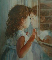 """""""Looking Outside In by Christine Swann """"watercolor, 16"""" x 20"""""""