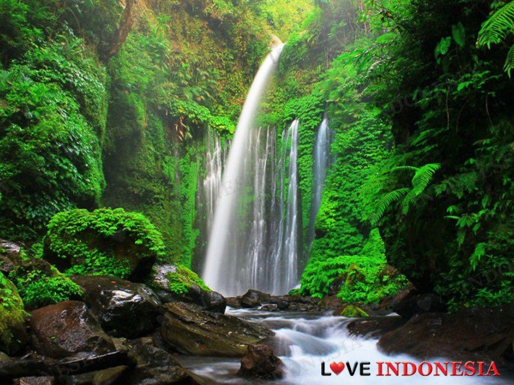Bentuk Bertingkat Air Terjun Tiu Kelep Jadi Lokasi Persinggahan Pendaki Gunung Rinjani Love Indonesia Pemandangan Air Terjun Pulau Lombok