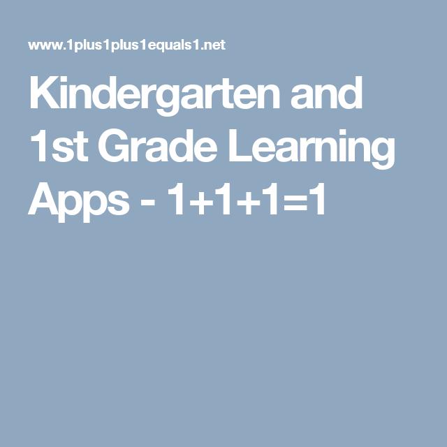 Kindergarten and 1st Grade Learning Apps - 1+1+1=1