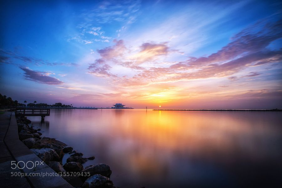 St Pete Sunrise by Greg__Urbano. Please Like http://fb.me/go4photos and Follow @go4fotos Thank You. :-)