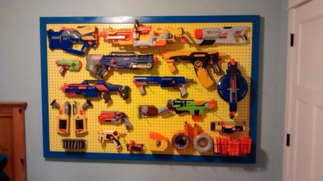 Nerf gun rack. :)