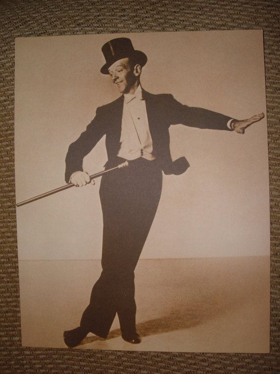 Fred Astaire Top Hat Cane Dancing Sepia Print Huge Etsy Fred Astaire Sepia Print Fred