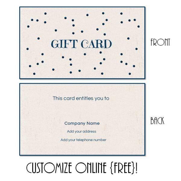 Gift Card Template Gift Card Template Gift Card Design Free