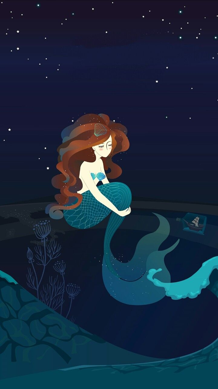Mermaid S Dream Theme Mermaid Artwork Mermaid Wallpapers Ariel Wallpaper Anime mermaid iphone wallpaper
