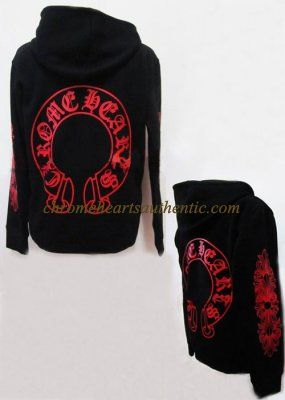 a9d6d9d0f4c Chrome Hearts Dara Style Red Print Horseshoe Hoodie