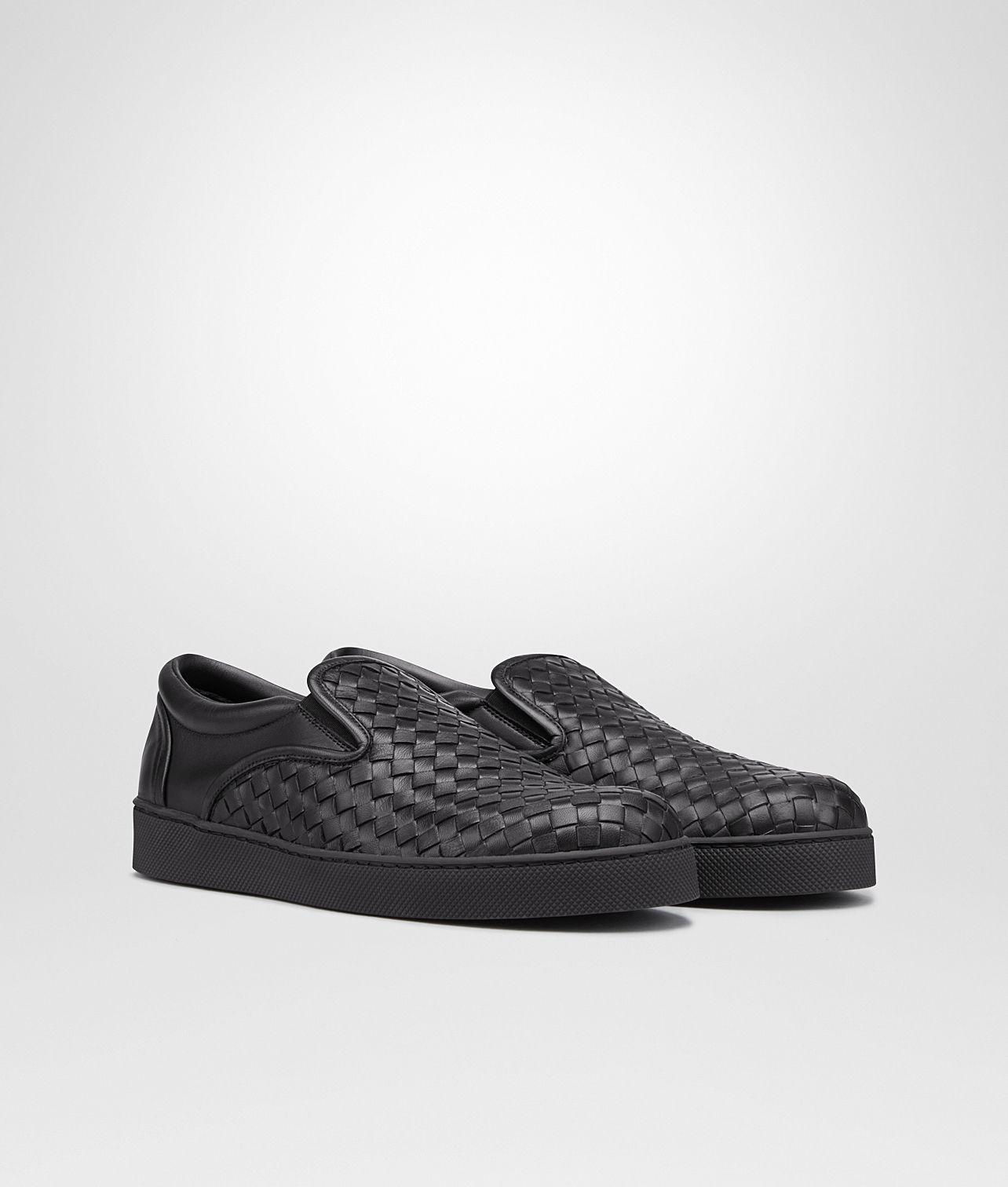 nero Intrecciato nappa sneaker - Black Bottega Veneta trXwP0