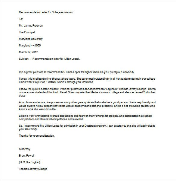 reference letter to school admission - Yahoo Search Results Yahoo - college recommendation letters