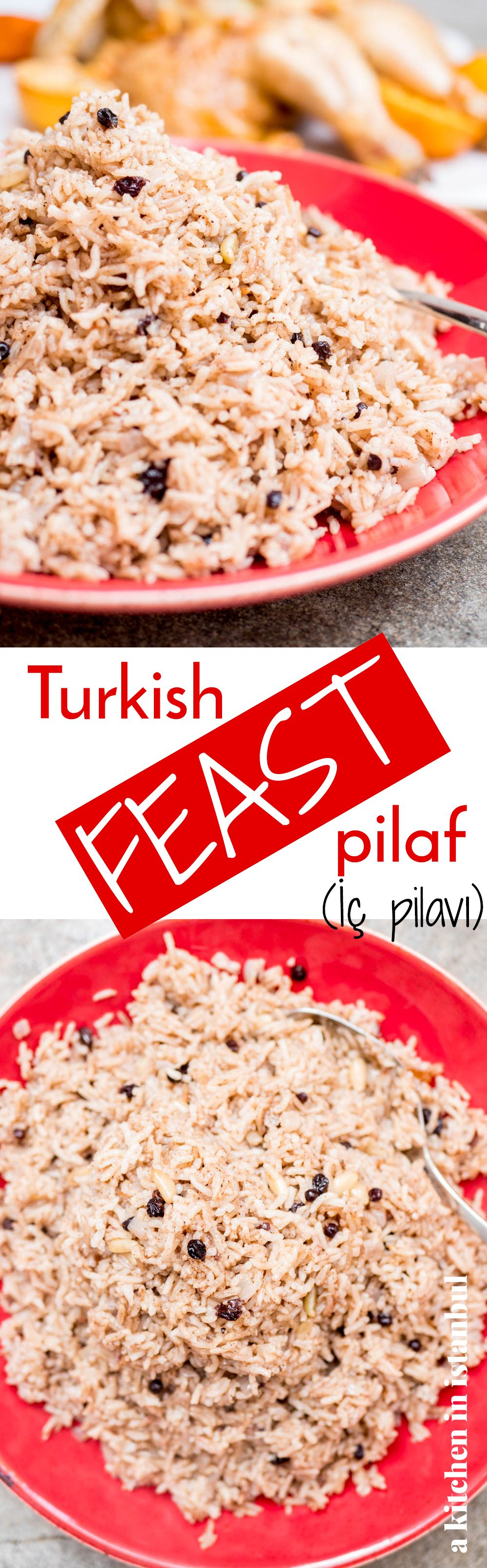Turkish feast pilaf (İç pilavı) recipe / A kitchen in
