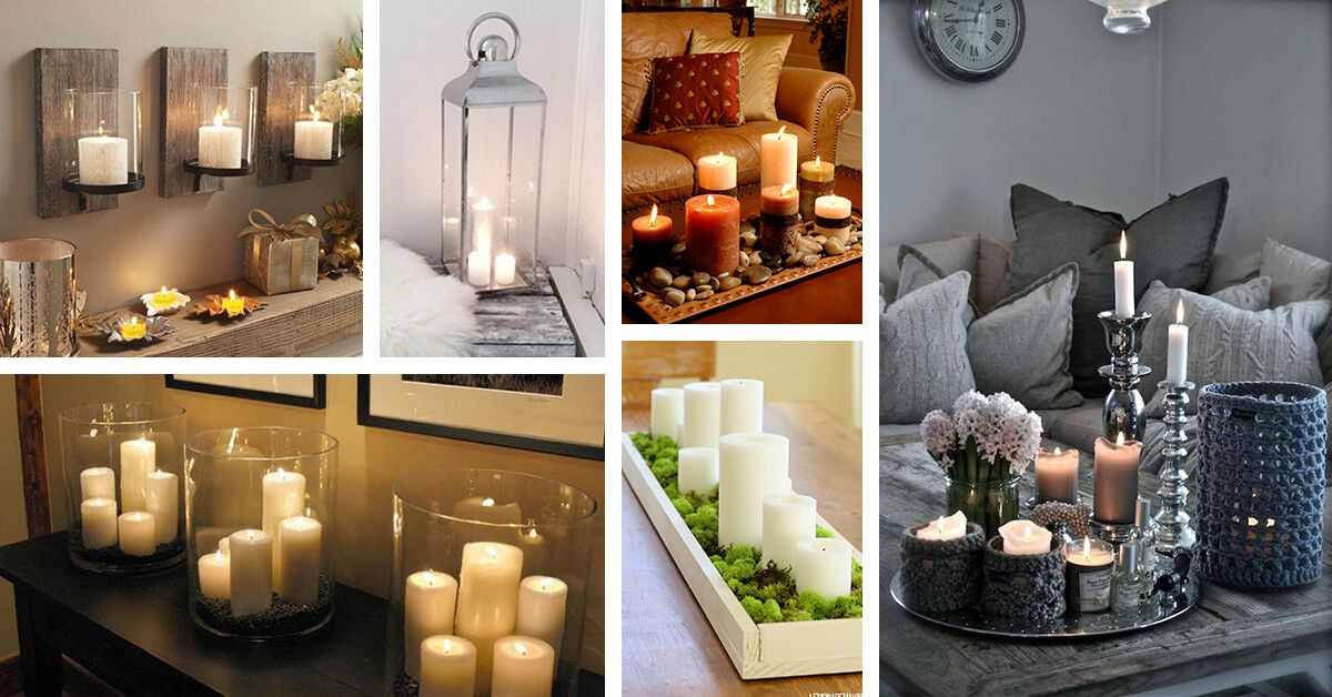 34 Ways To Add Warmth To Your Home With Beautiful Candle Decorations Candle Decor Decorating Your Home Beautiful Candles