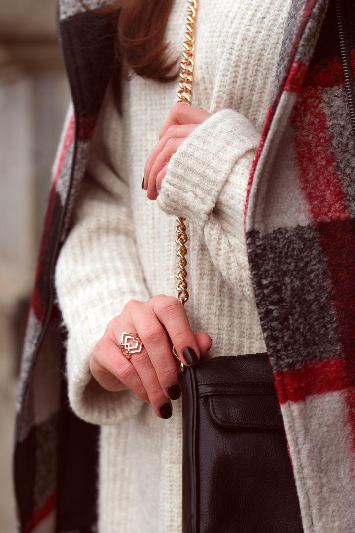 Zara mantel schwarz gold