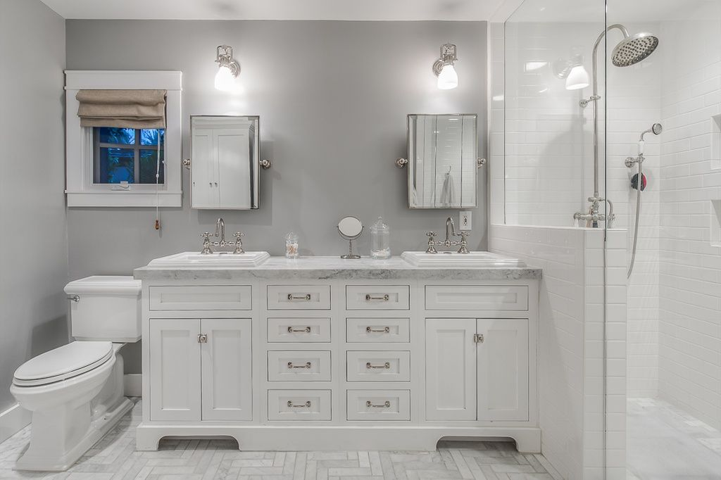 18+ Bathroom white inset cabinets model