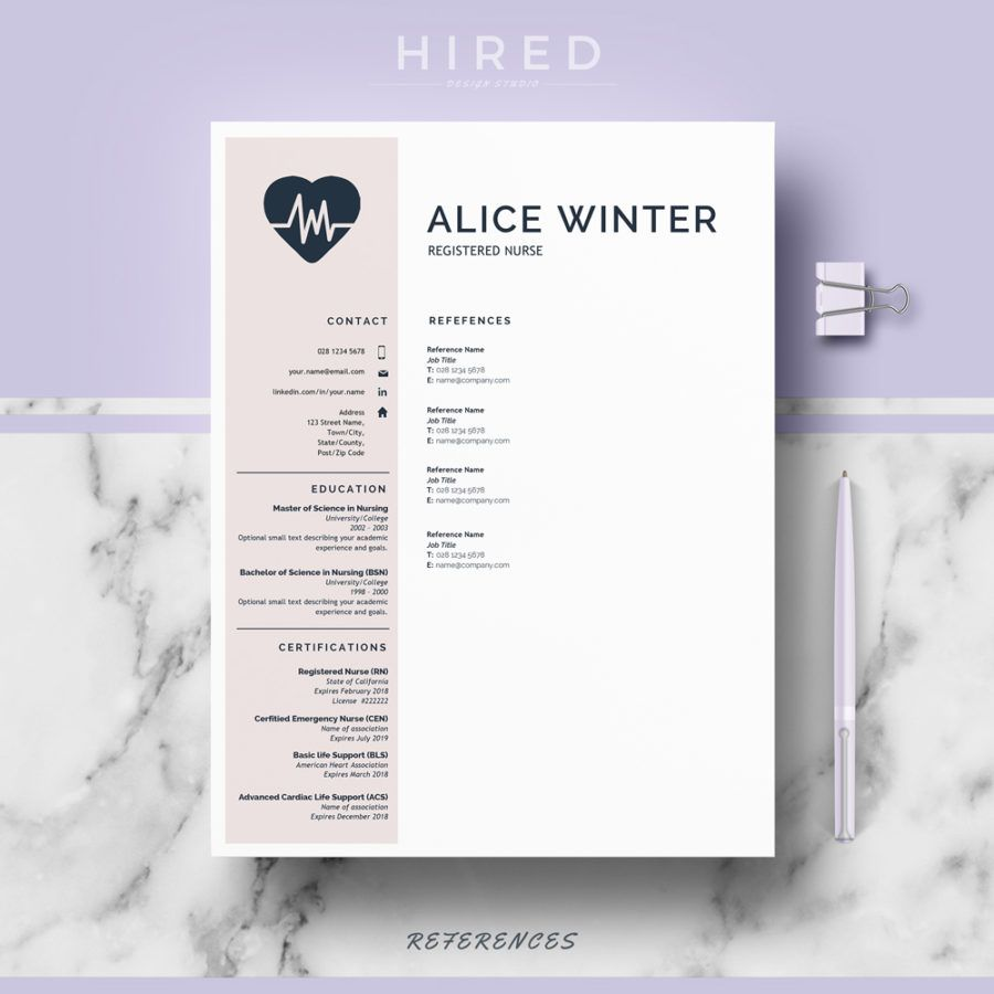 Nurse Resume Template For Ms Word Alice  Nurse Resume