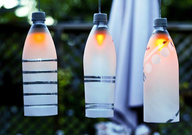Come fare una lampada con le bottiglie di plastica