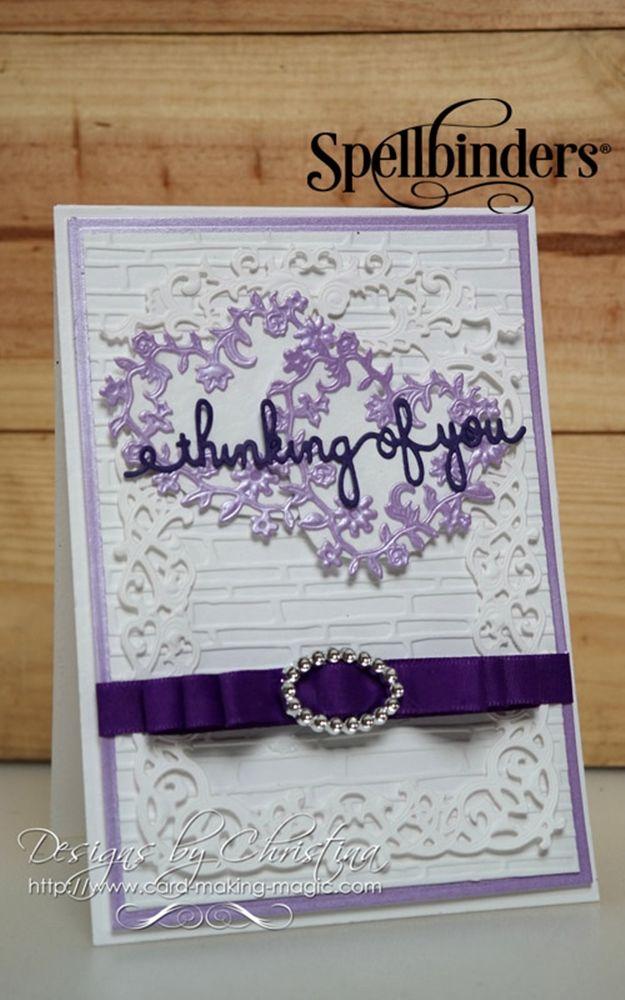 spellbinders floral affair dies  wedding cards handmade