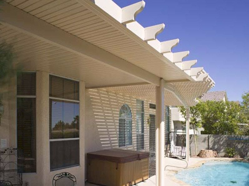 Alumawood Newport Solid Patio Cover Covered patio