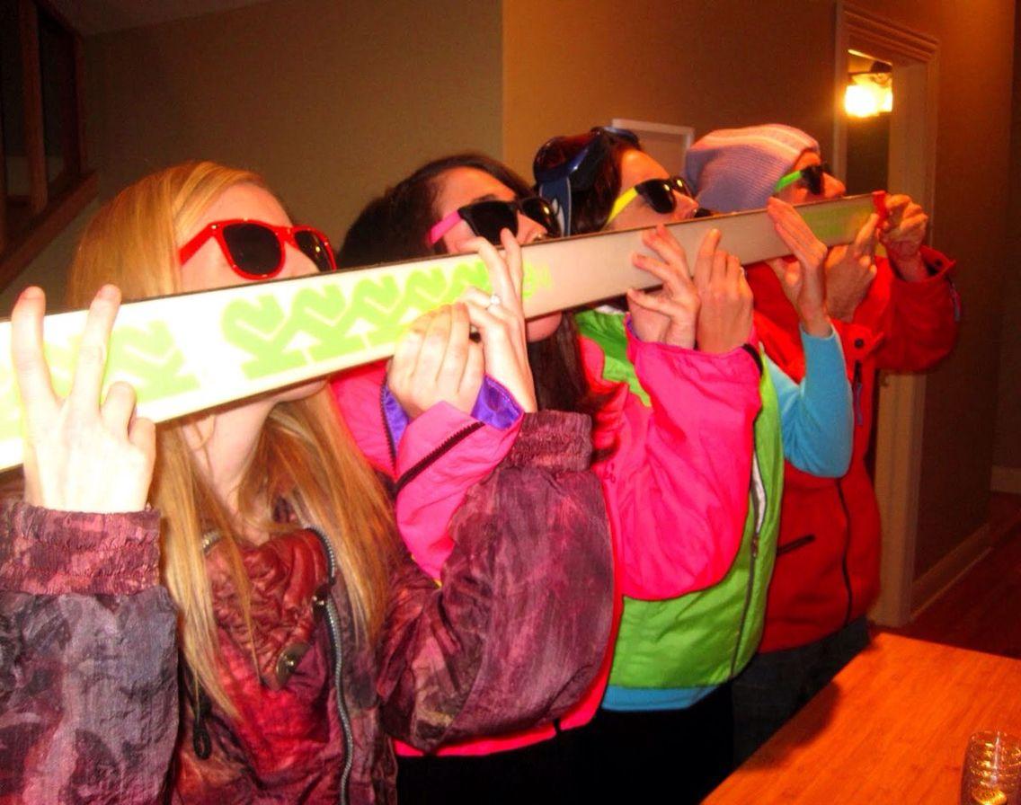 Shot ski Apres ski party, Shot ski, Skiing