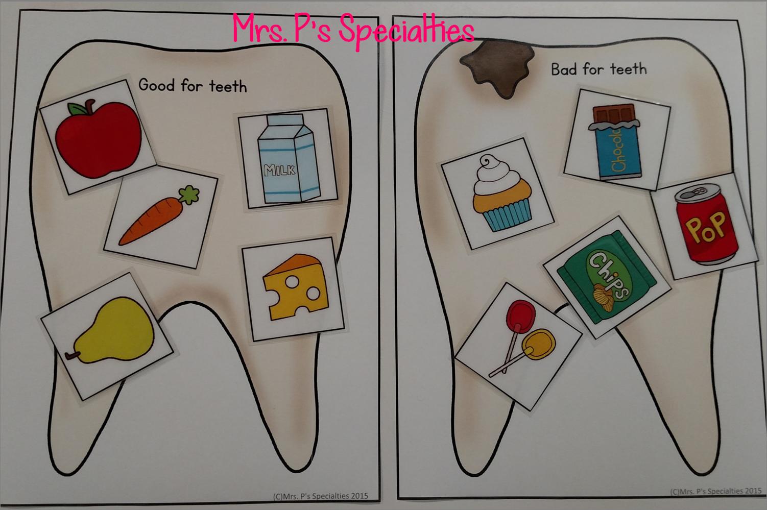Dental Health Lesson And A Freebie