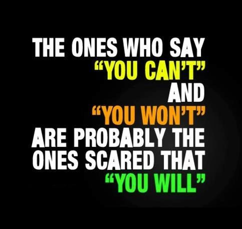 The ones who say...