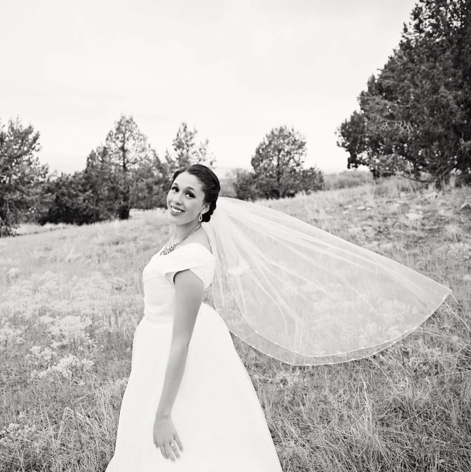 """Real Bride Wearing """"Analissa"""" Modest Gown From Latter Day"""