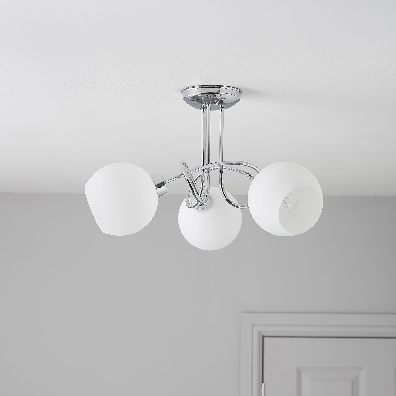 Chorley Chrome Effect 3 Lamp Ceiling Light Departments Diy At B Q Ceiling Lights Lamp Ceiling Bq living room lights