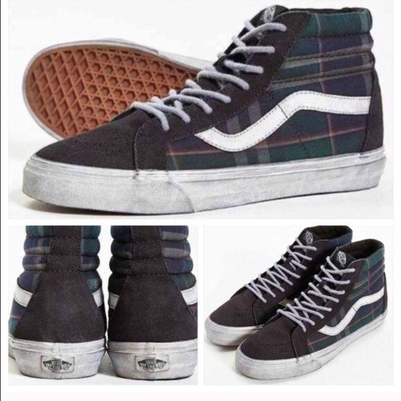 eb0e1a050b Vans Era California Plaid Overwash Sneaker Overwashed high-top sneakers  with plaid canvas insets at