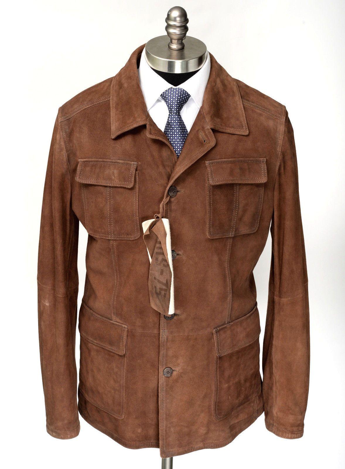 Gimo S Gms 75 Goat Suede Leather Slim 5btn Coat Jacket Kurtka Muzhskoj Stil Odezhda