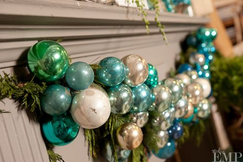 blue and green ball garland teal and red christmas its christmastime red teal holiday displays