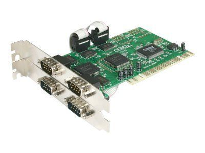 NEW StarTech.com 4 port PCI RS232 Serial Adapter Card with 16550 UART (KVM (Keyboard/Video/Mouse)) by Startech.Com Lowcost Skus. $61.70. Marketing Information: Add 4 RS232 serial ports to your PC, through a single PCI expansion slot. The PCI4S550 4-Port PCI RS232 Serial Adapter Card (16550 UART) adds four RS232 serial ports, using a single PCI slot - a cost-effective solution for connecting any new or legacy serial device, with data transfer rates of up to 115.2 ...