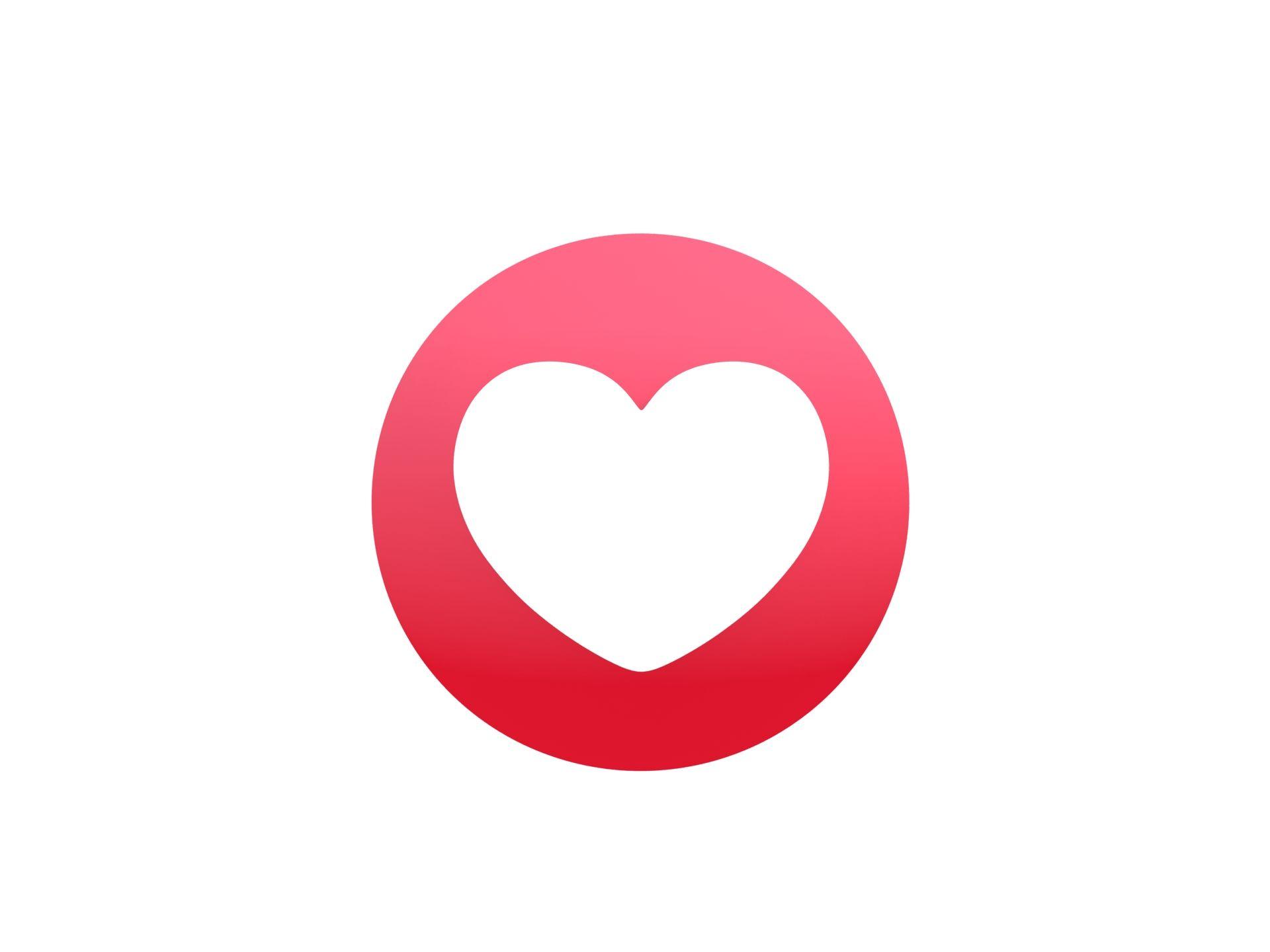 Animated Facebook Love Reaction Button Cartoon Styles Animation Illustration Design