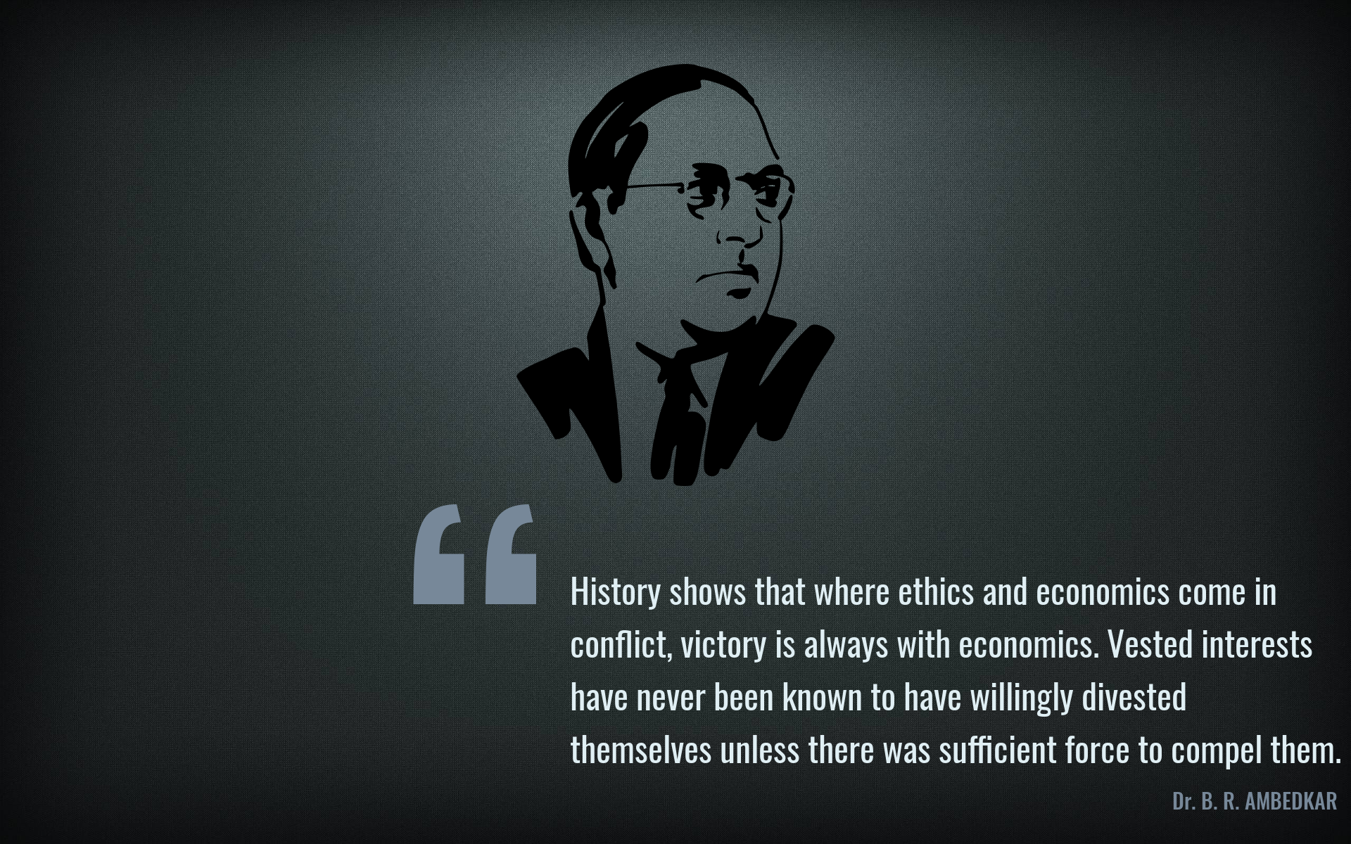 Marvelous Dr. Ambedkar HD Wallpaper And Quote