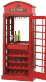 British Phone Booth Wine Cabinet Cabinets