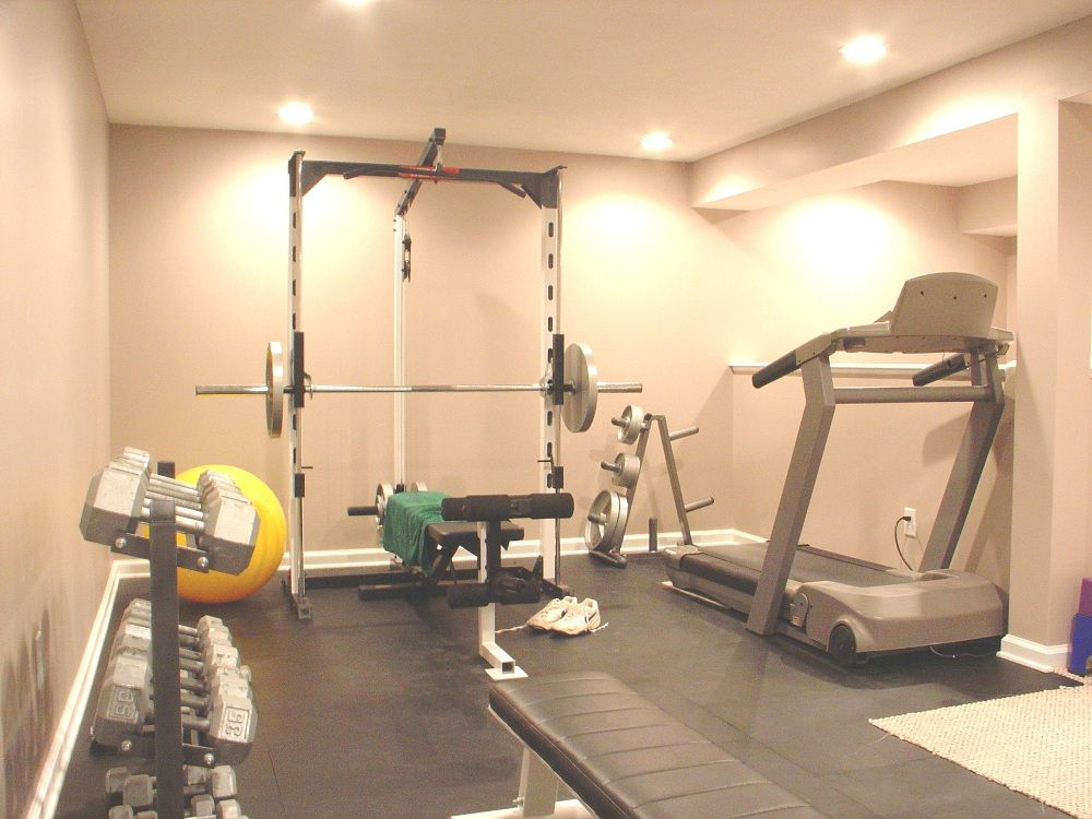 Get stunning basement with finish basement ideas workout for Small exercise room
