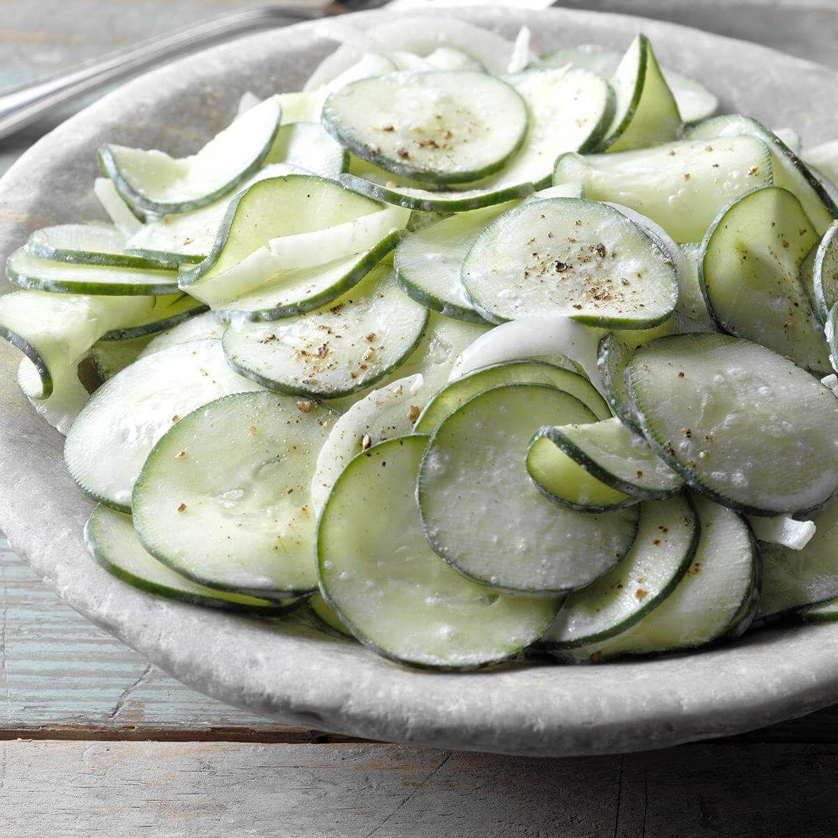 Sour Cream Cucumbers Recipe Creamed Cucumbers Cucumber Recipes Cucumber Recipes Salad