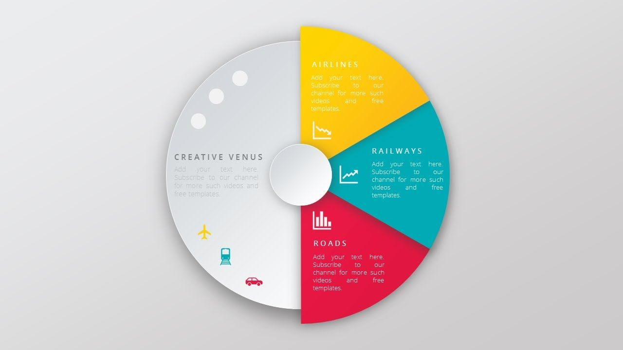 create super impressive vector like pie chart in microsoft office, Powerpoint templates