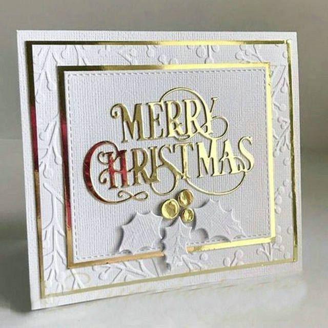 (10x8)cm Merry Christmas Metal Cutting Dies Stencils for DIY Scrapbooking Paper Card Album Decor Craft Dies Embossing Folder
