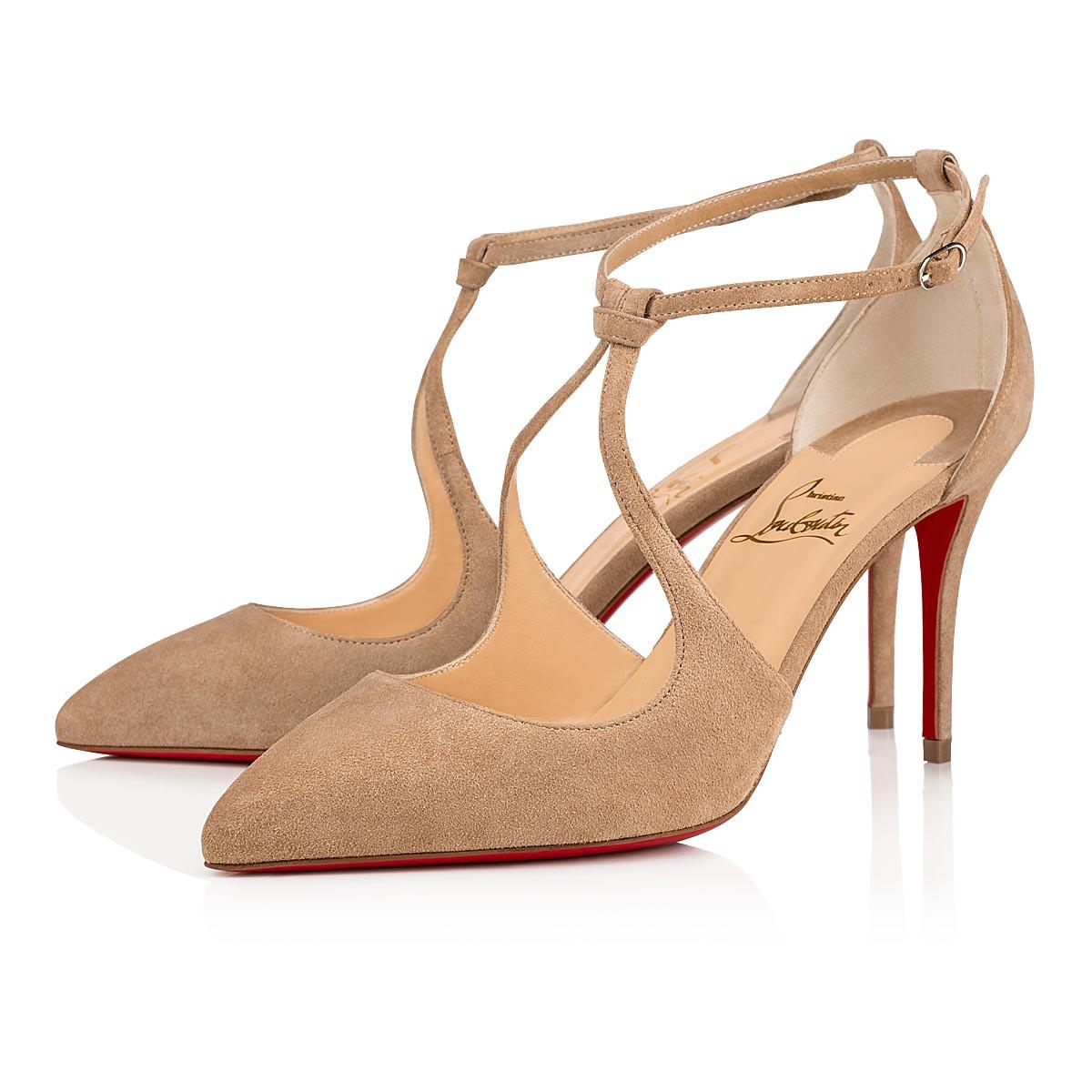 Alminetta 85 Nocciola Suede Women Shoes Christian Louboutin En