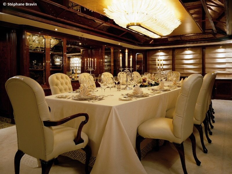 Table Setting Luxury Motor Yacht  Luxury Yacht Table Settings Endearing Restaurant Dining Room Tables Design Inspiration