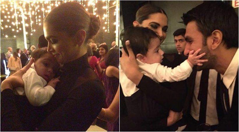 Deepika Padukone Plays With Baby At Her Best Friend S Wedding While Boyfriend Ranveer Singh Watches Her See Pics Baby Play Best Friend Wedding Friend Wedding